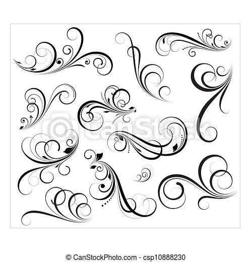 redemoinhos, vectors - csp10888230