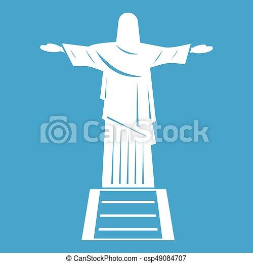 redentor, blanco, cristo, estatua, icono - csp49084707