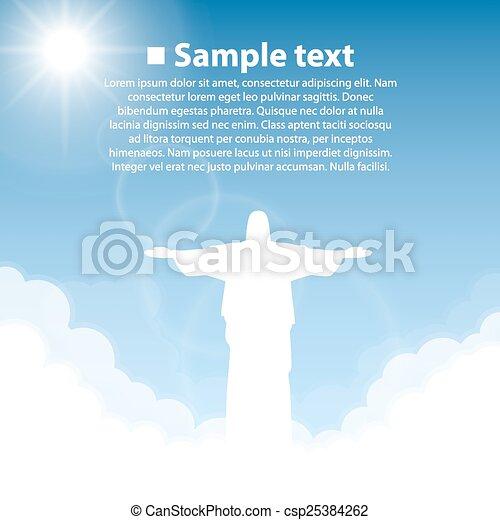 redentor, cristo, estatua - csp25384262