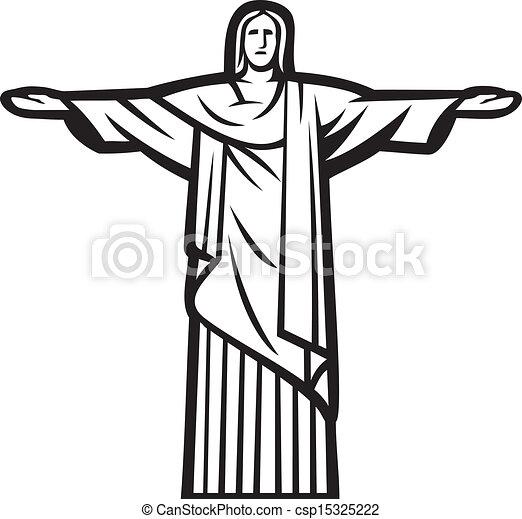 Cristo, la estatua del redentor - csp15325222