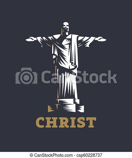 redentor, cristo, statue. - csp60228737