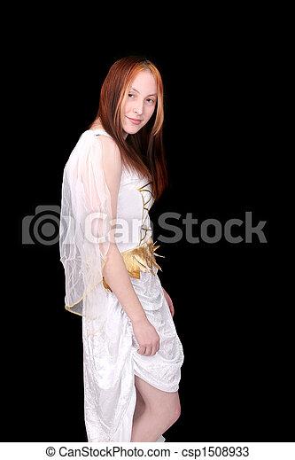 Redhead goddess graphic