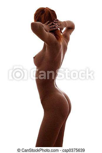 Female nude redhead Muscular