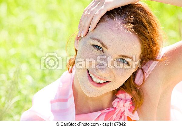 Redheaded woman - csp1167842