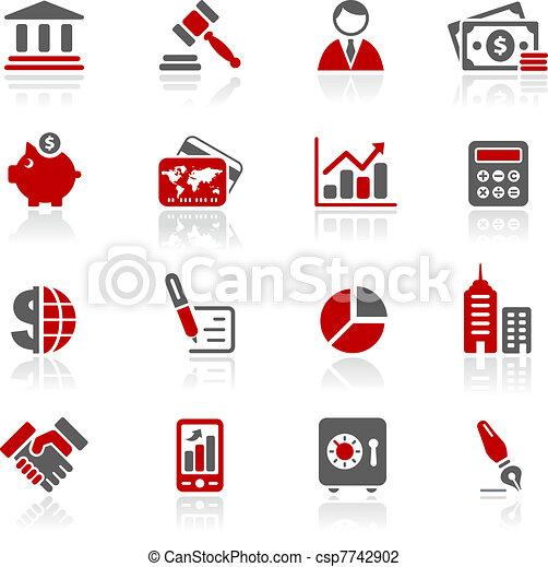 redico, finanças, negócio, &, ícones, / - csp7742902