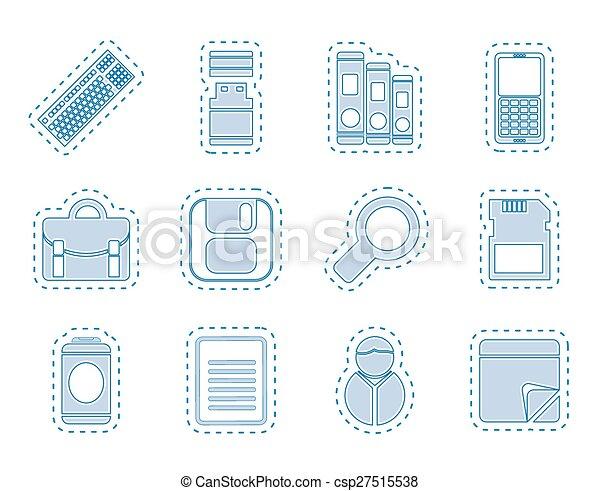 redskapen, affärskontor, ikonen - csp27515538