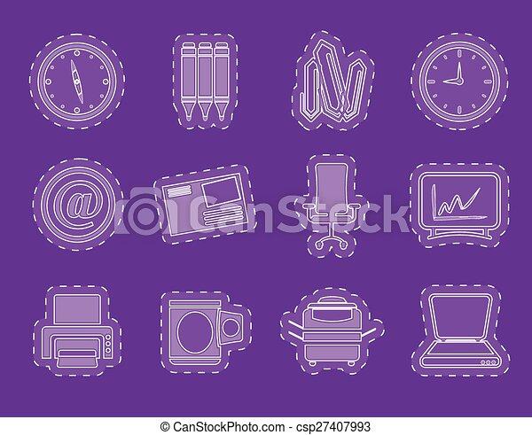redskapen, affärskontor, ikonen - csp27407993