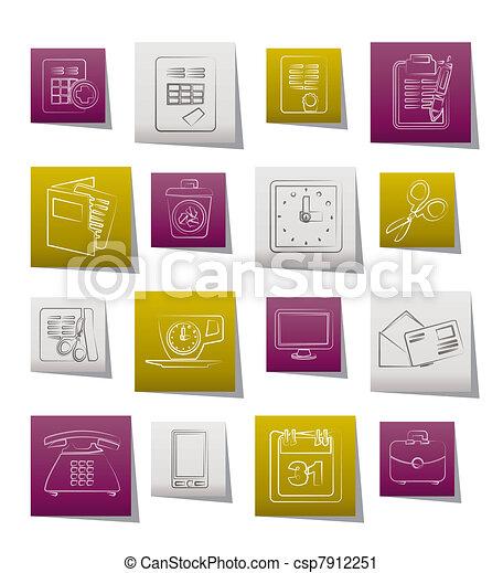 redskapen, affärskontor, ikonen - csp7912251