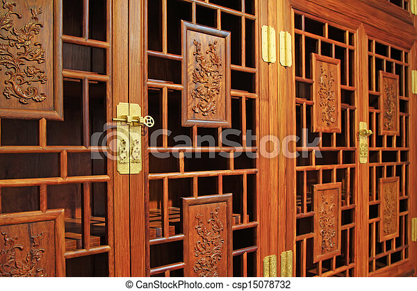 Beau Redwood Furniture, Traditional Chinese Art Style   Csp15078732