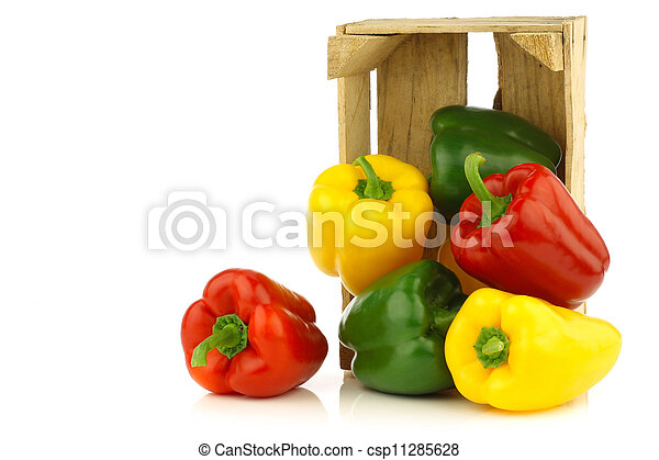 red,yellow and green bell peppers - csp11285628