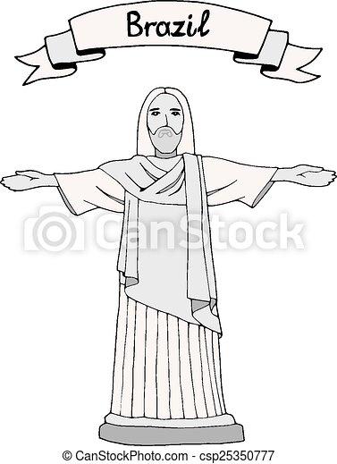 reedemer, kristus - csp25350777