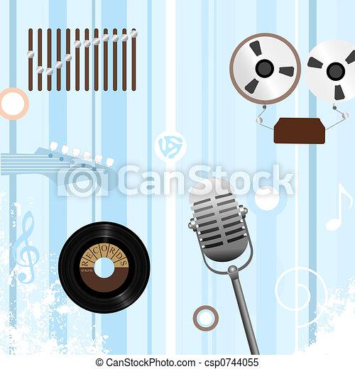 Reel Record Retro Music - csp0744055