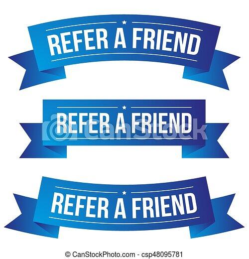 Refer a Friend ribbon - csp48095781