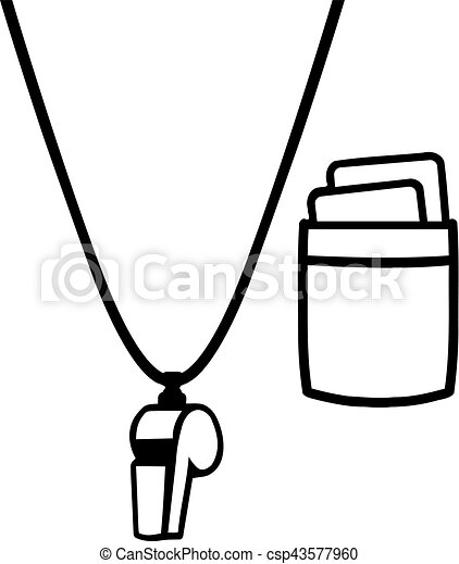 referee shirt with whistle and cards clip art vector search rh canstockphoto ca referee clipart #83832 referee clipart free