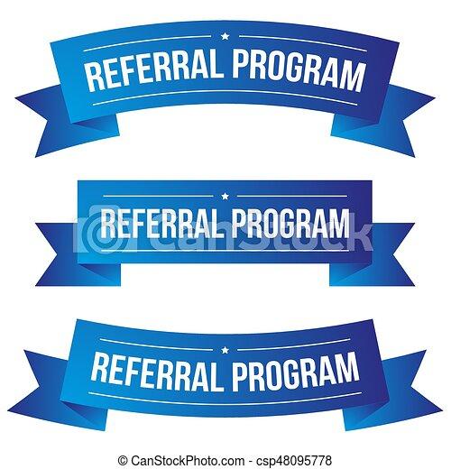 Referral Program ribbon set - csp48095778
