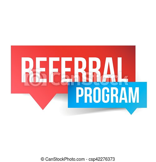 Referral Program vector speech bubble - csp42276373