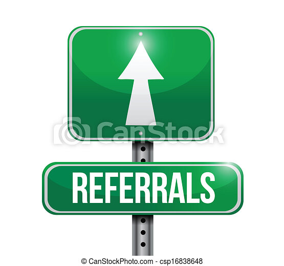 referrals road sign illustration design - csp16838648