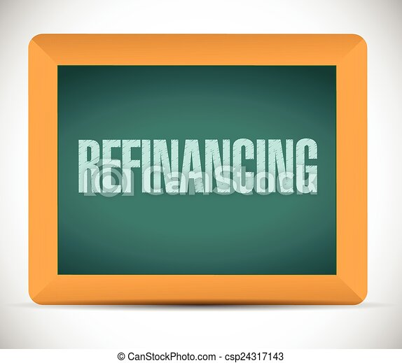 refinancing board sign illustration - csp24317143