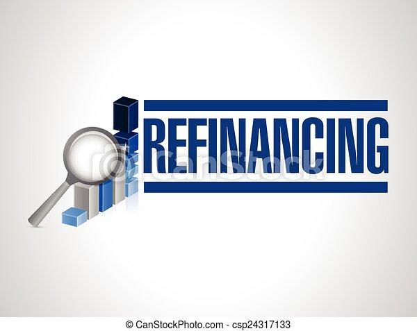 refinancing business graph  - csp24317133