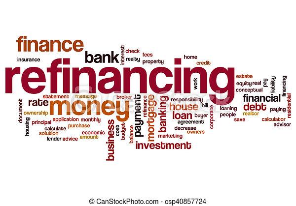 Refinancing word cloud - csp40857724
