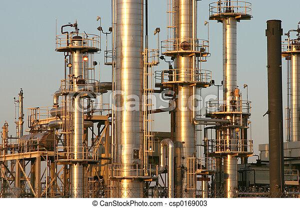 refinería, aceite, #4 - csp0169003