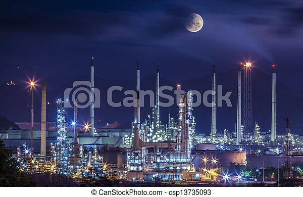 refinería, planta, industrial - csp13735093