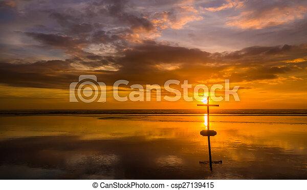 Reflection Beach Cross - csp27139415