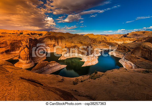 Reflection Canyon Lake Powell Utah - csp38257363