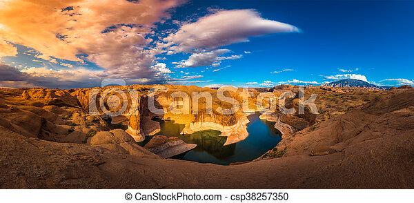 Reflection Canyon Lake Powell Utah - csp38257350