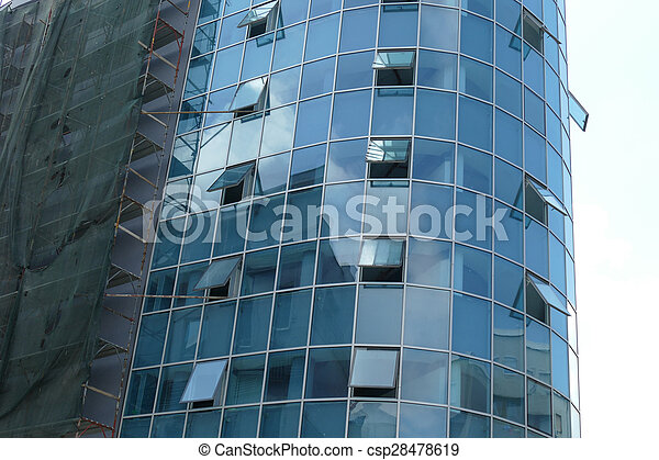 Reflection in windows of modern office building - csp28478619