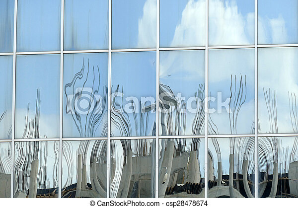 Reflection in windows of modern office building - csp28478674
