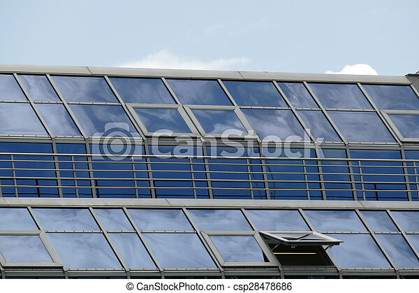 Reflection in windows of modern office building - csp28478686