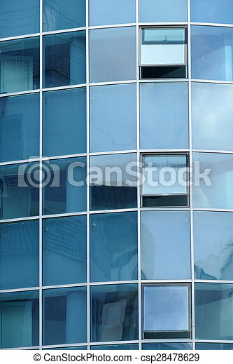 Reflection in windows of modern office building - csp28478629