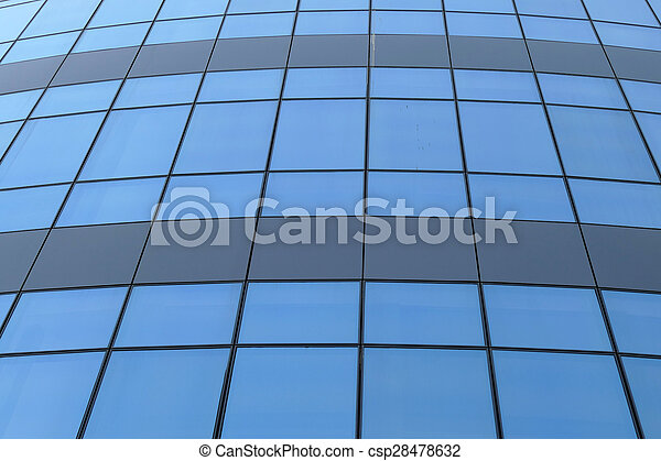 Reflection in windows of modern office building - csp28478632