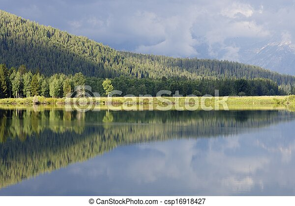 reflections in the river - csp16918427