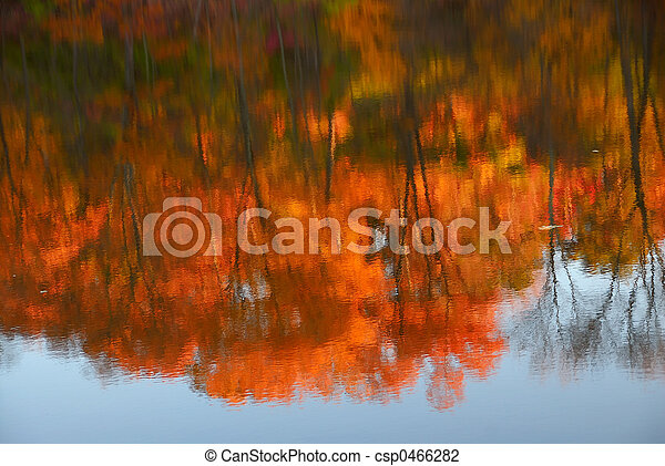 Reflections of Autumn - csp0466282