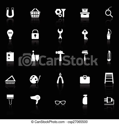 Icones DIY reflejan el fondo negro - csp27065500