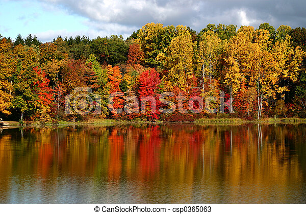 Reflexionen des Herbstes - csp0365063