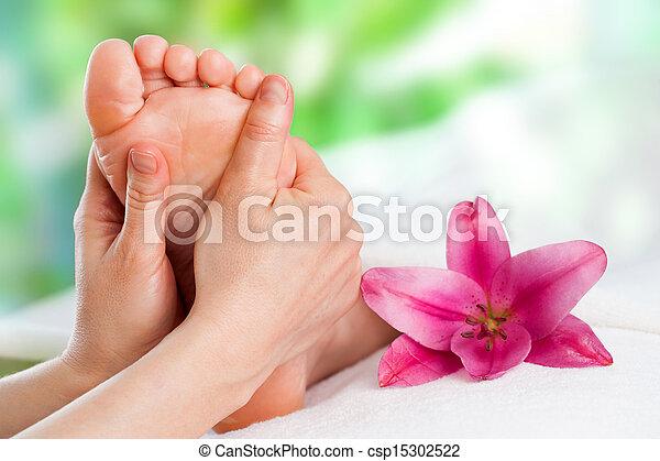 reflexology, massage. - csp15302522