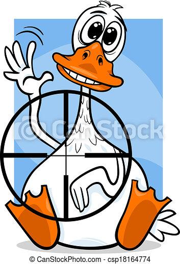 Pato sentado diciendo ilustración de dibujos animados - csp18164774