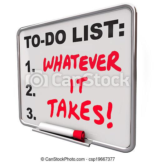 Cueste lo que cueste decir frases motivacionales para hacer lista - csp19667377