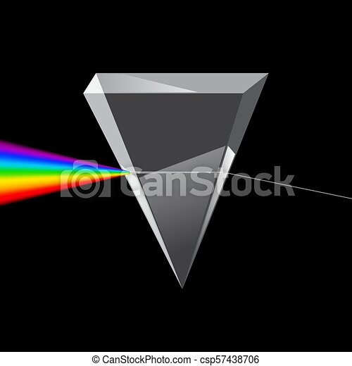 Refraction of Light Through a Prism. Vector. - csp57438706 2491518d0bc0d