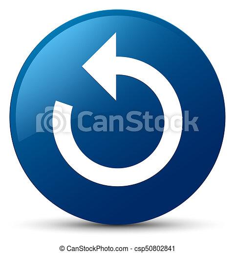 Refresh arrow icon blue round button - csp50802841