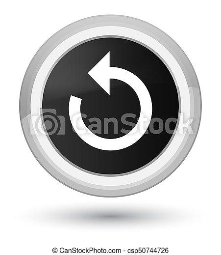 Refresh arrow icon prime black round button - csp50744726