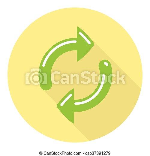Refresh Arrows Symbol - csp37391279