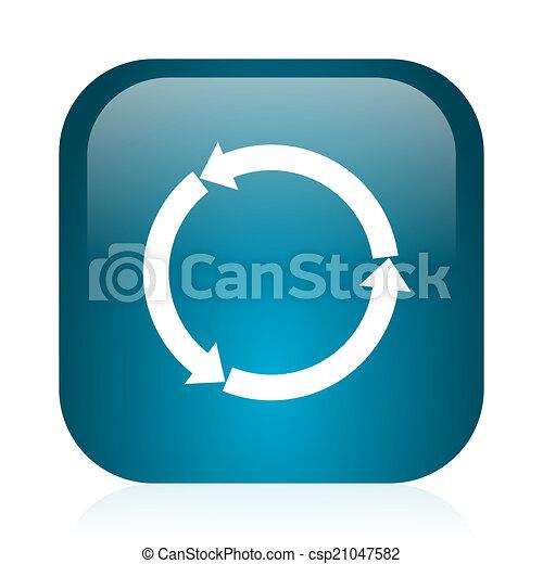 refresh blue glossy internet icon - csp21047582