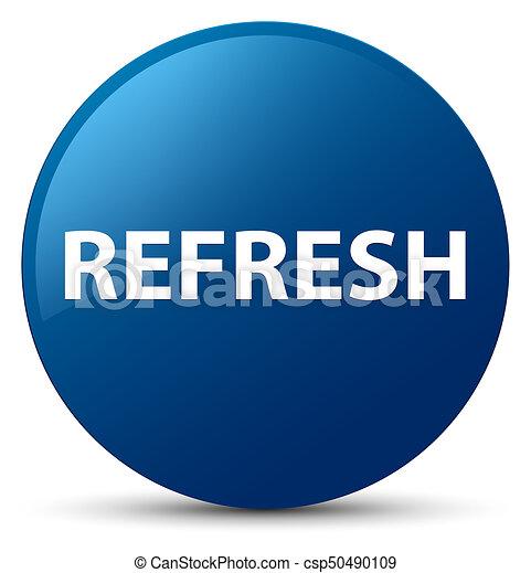 Refresh blue round button - csp50490109