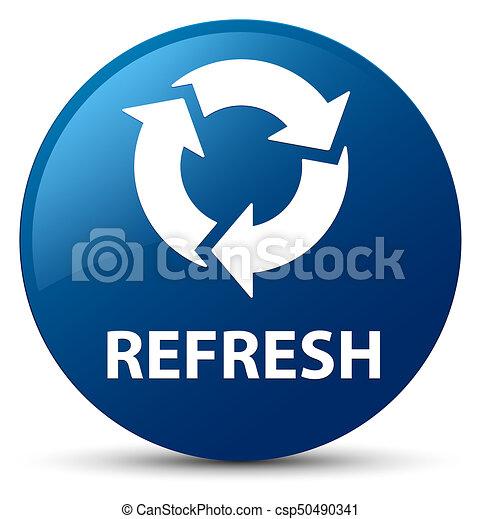 Refresh blue round button - csp50490341