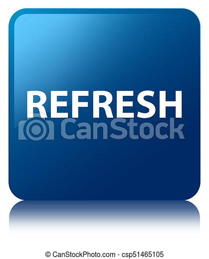 Refresh blue square button - csp51465105