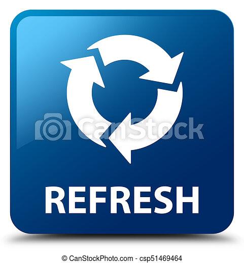 Refresh blue square button - csp51469464